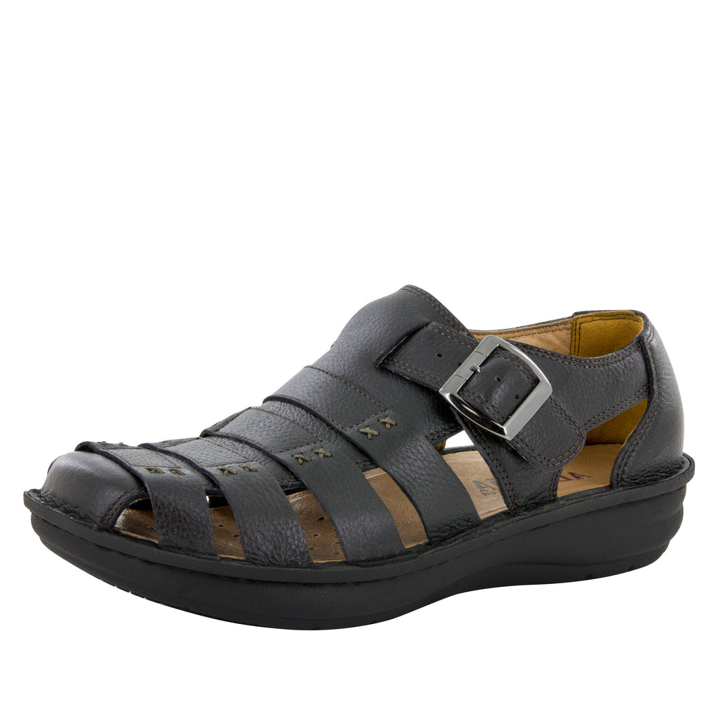 Alegria Men's Martinique Black Tumbled Sandal - Alegria Shoes