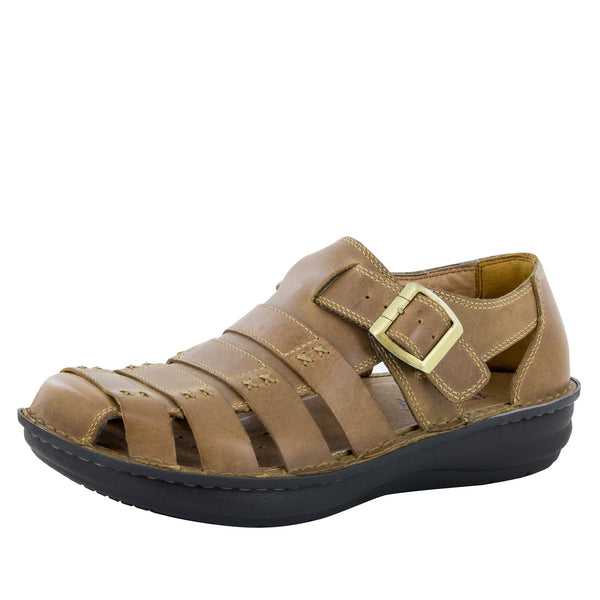 Alegria Men's Martinique Brown Sandal - Alegria Shoes