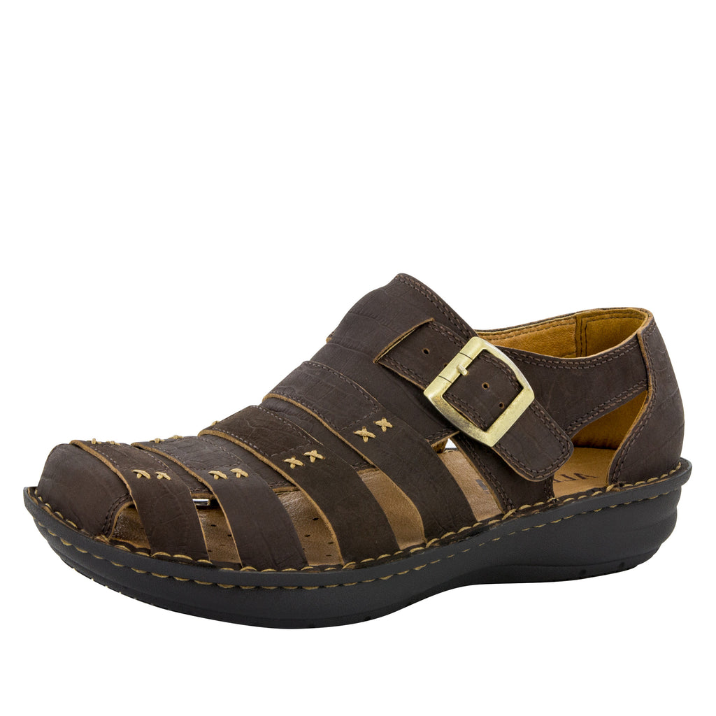 Alegria Men's Martinique Cafe Nubuck Sandal - Alegria Shoes