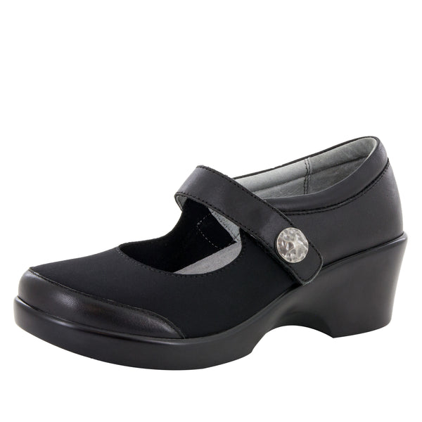 Maya Black Nappa Shoe