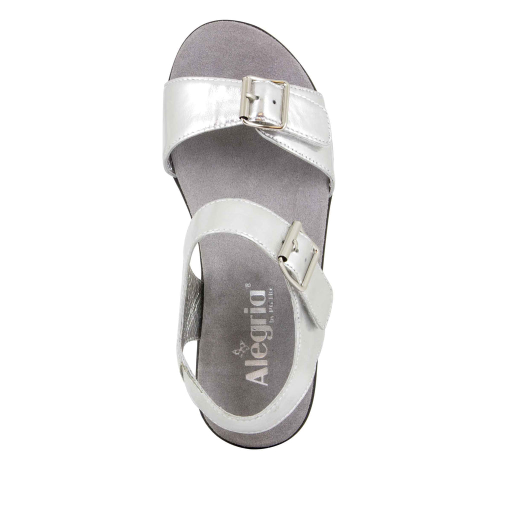 Morgyn Silver Mirror flatform wedge sandal, with exposed leather footbed - MOR-690_S4 (504275140662)