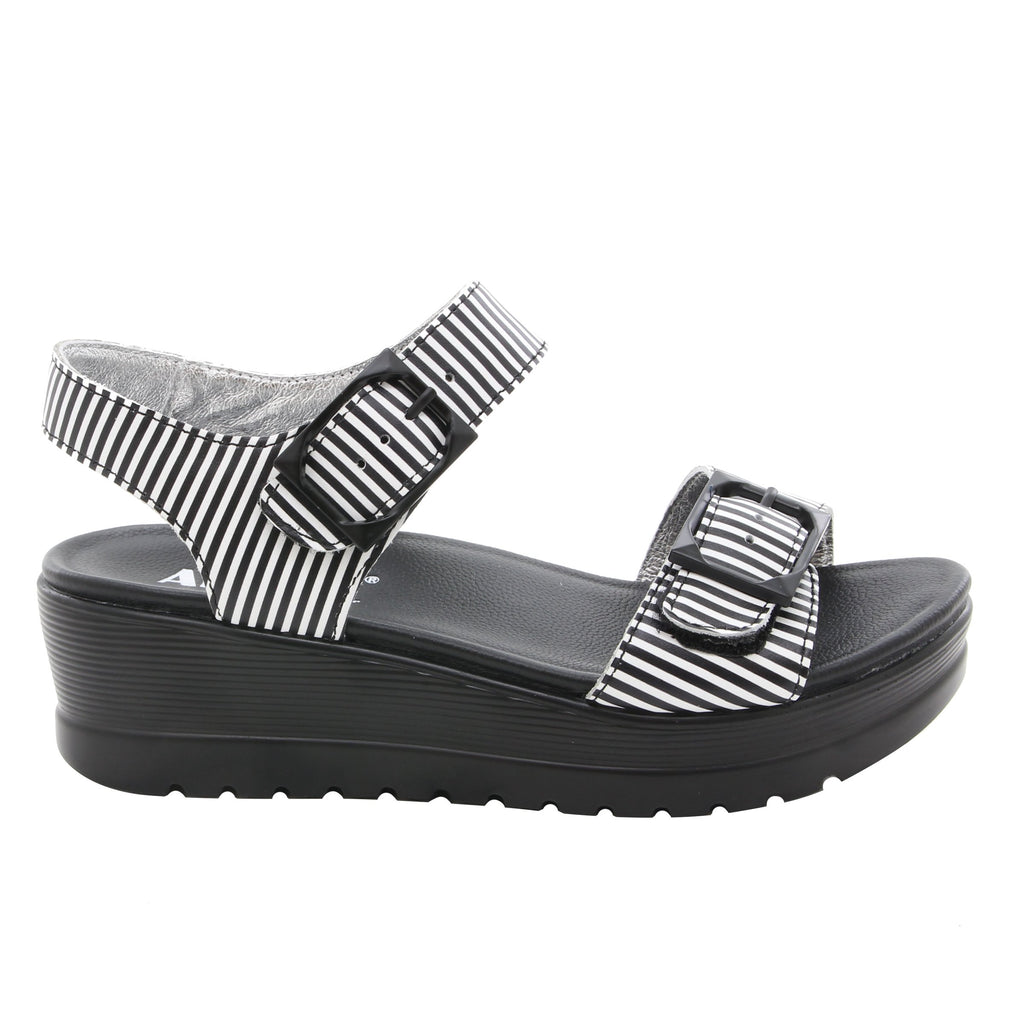 Morgyn Stripes flatform wedge sandal, with exposed leather footbed - MOR-879_S2