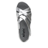Myka Silver Flash flatform wedge sandal, with exposed leather footbed - MYK-690_S4