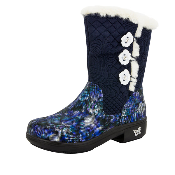 Nanook Winter Garden Navy Boot - Alegria Shoes - 1