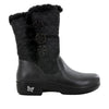 Nanook Quilted Black Boot - Alegria Shoes - 2