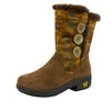 Nanook Pecan Fuzzy Boot - Alegria Shoes - 1