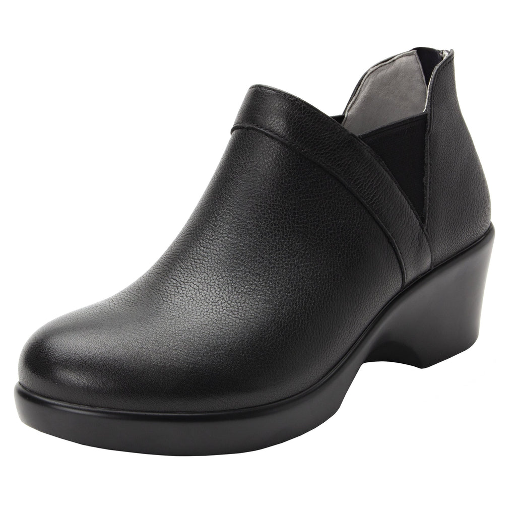 Natalee Upgrade bootie, with double elastic gore and back zipper on career fashion outsole - NAT-161_S1