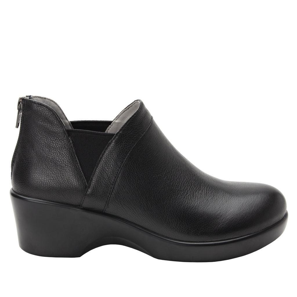 Natalee Upgrade bootie, with double elastic gore and back zipper on career fashion outsole - NAT-161_S2