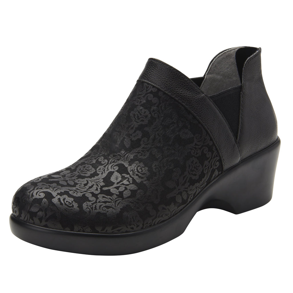 Natalee Goth You're Cool bootie, with double elastic gore and back zipper on career fashion outsole - NAT-7928_S1