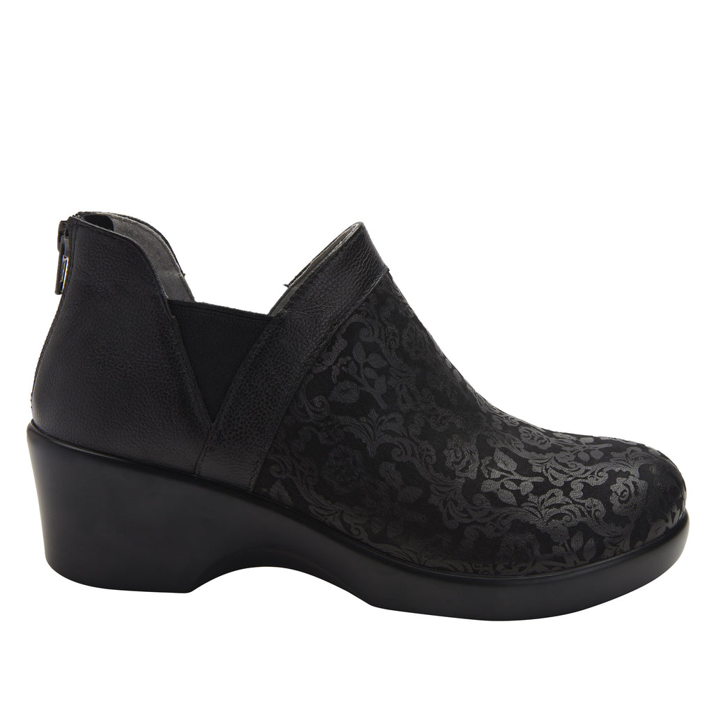 Natalee Goth You're Cool bootie, with double elastic gore and back zipper on career fashion outsole - NAT-7928_S2