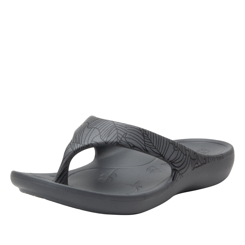 Ode Tobacco Smoke EVA thong sandal on recovery rocker outsole - ODE-520_S1