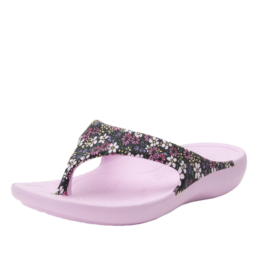 Ode Wild Flower EVA thong sandal on recovery rocker outsole - ODE-5648_S1