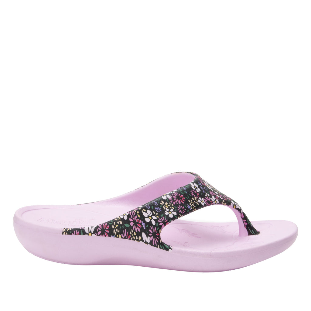 Ode Wild Flower EVA thong sandal on recovery rocker outsole - ODE-5648_S2