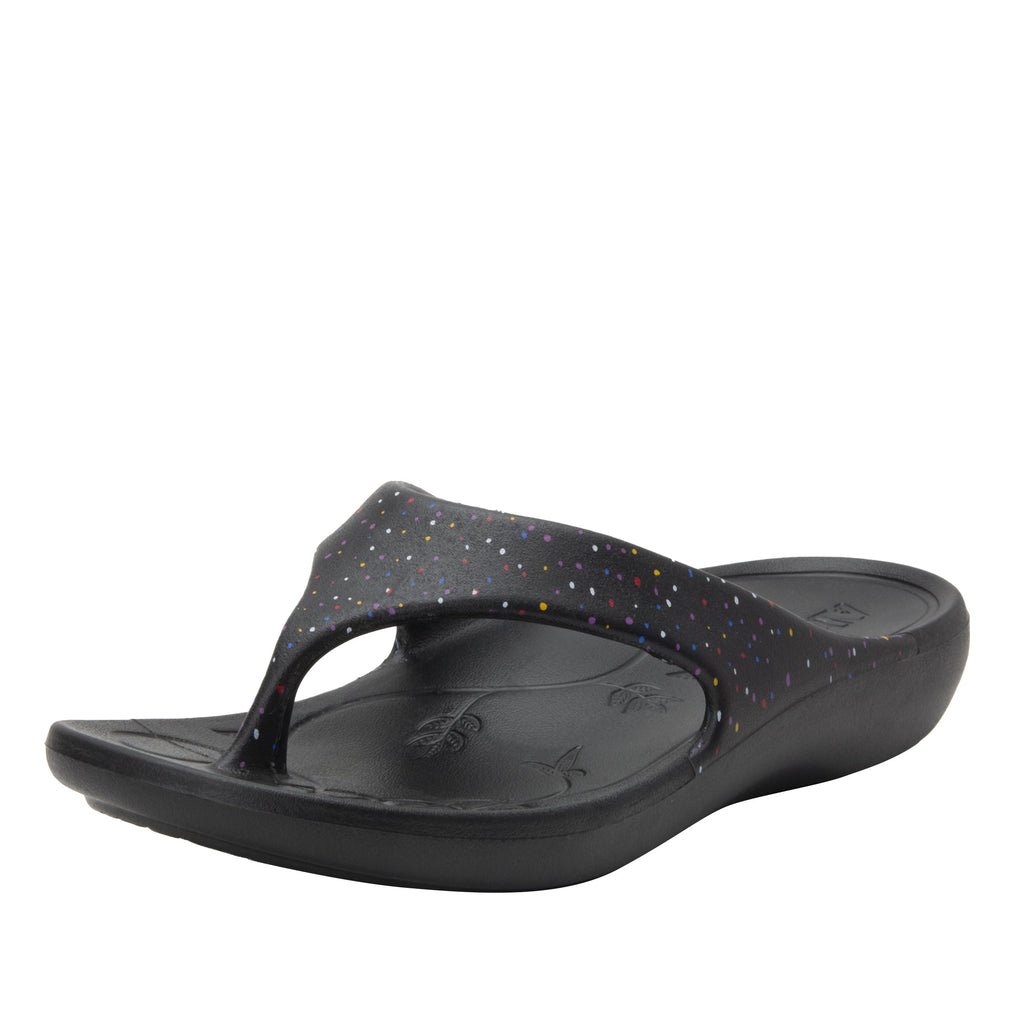 Ode Sprinkles EVA thong sandal on recovery rocker outsole - ODE-763_S1