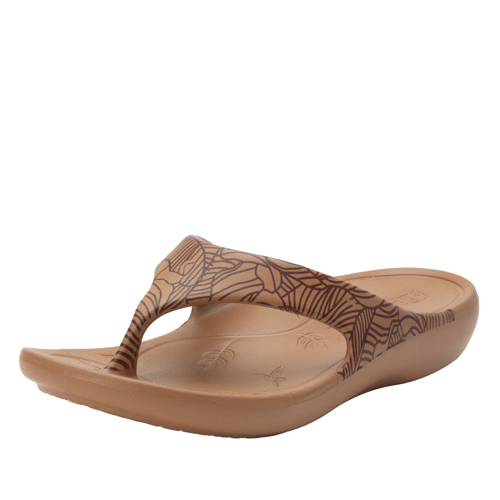 Ode Tobacco Leaf EVA thong sandal on recovery rocker outsole - ODE-849_S1