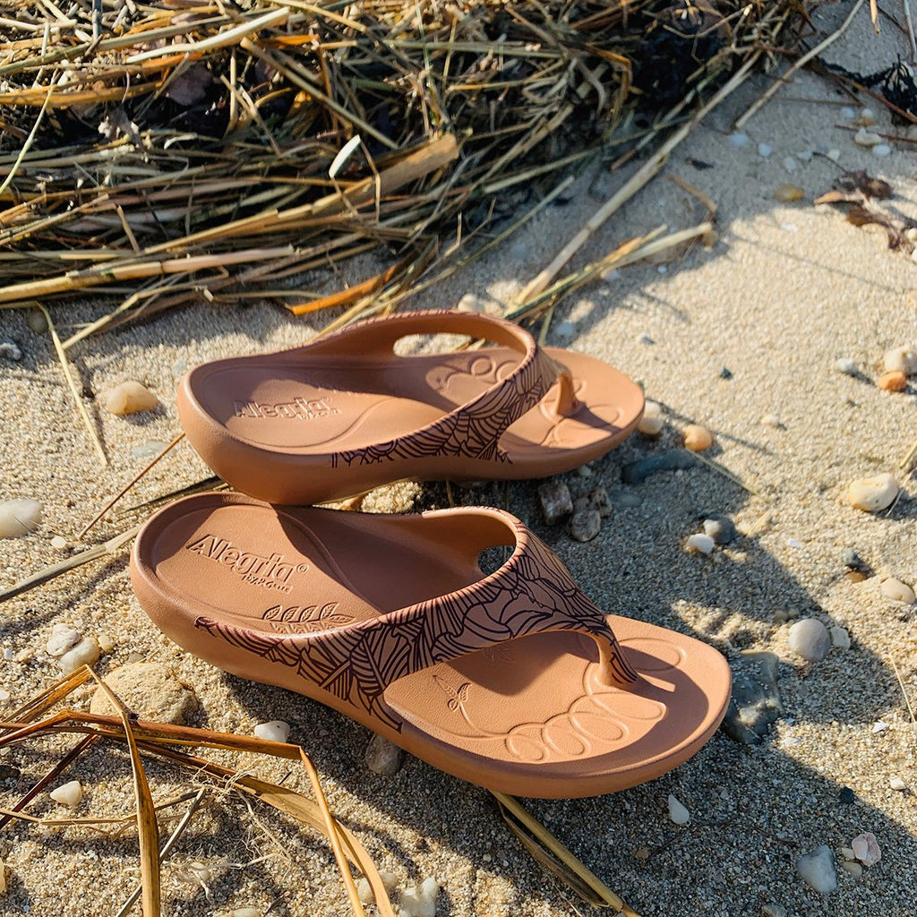 Ode Tobacco Leaf EVA thong sandal on recovery rocker outsole - ODE-849_S2
