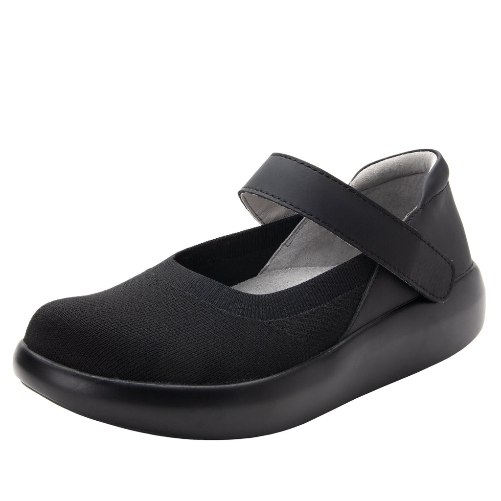 Olivia Black sleek rocker mary jane style shoe with non-flexing rocker outsole - OLI-101_S1