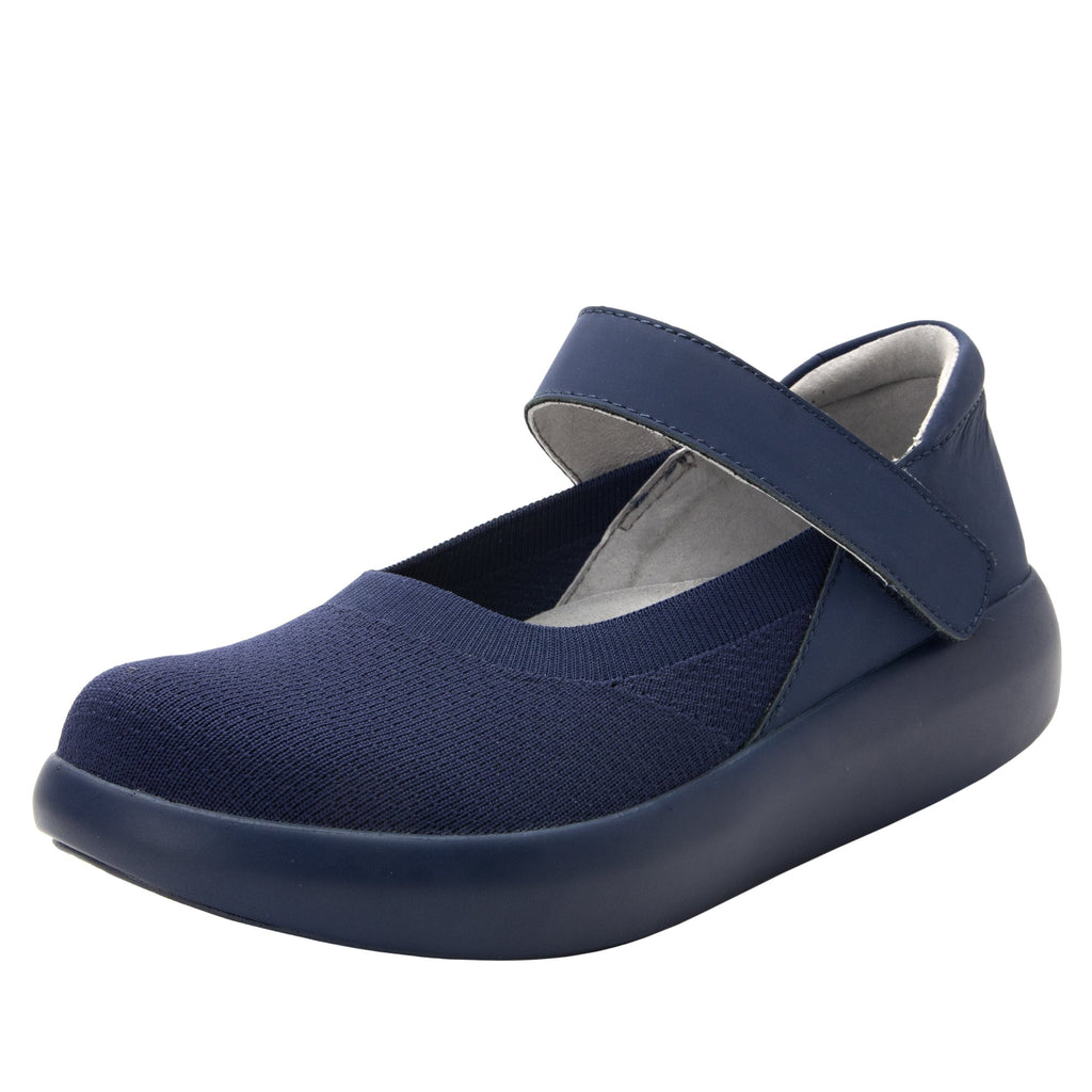 Olivia Navy sleek rocker mary jane style shoe with non-flexing rocker outsole - OLI-103_S1