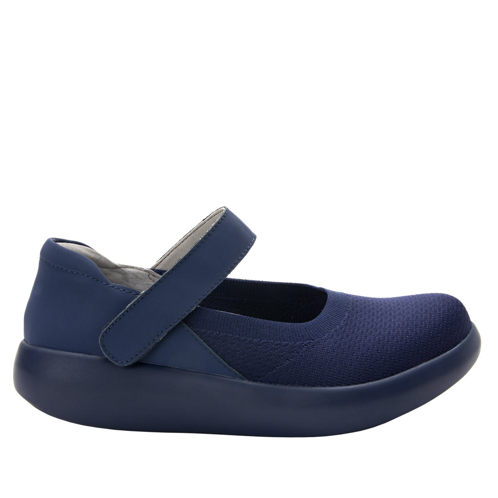 Olivia Navy sleek rocker mary jane style shoe with non-flexing rocker outsole - OLI-103_S2