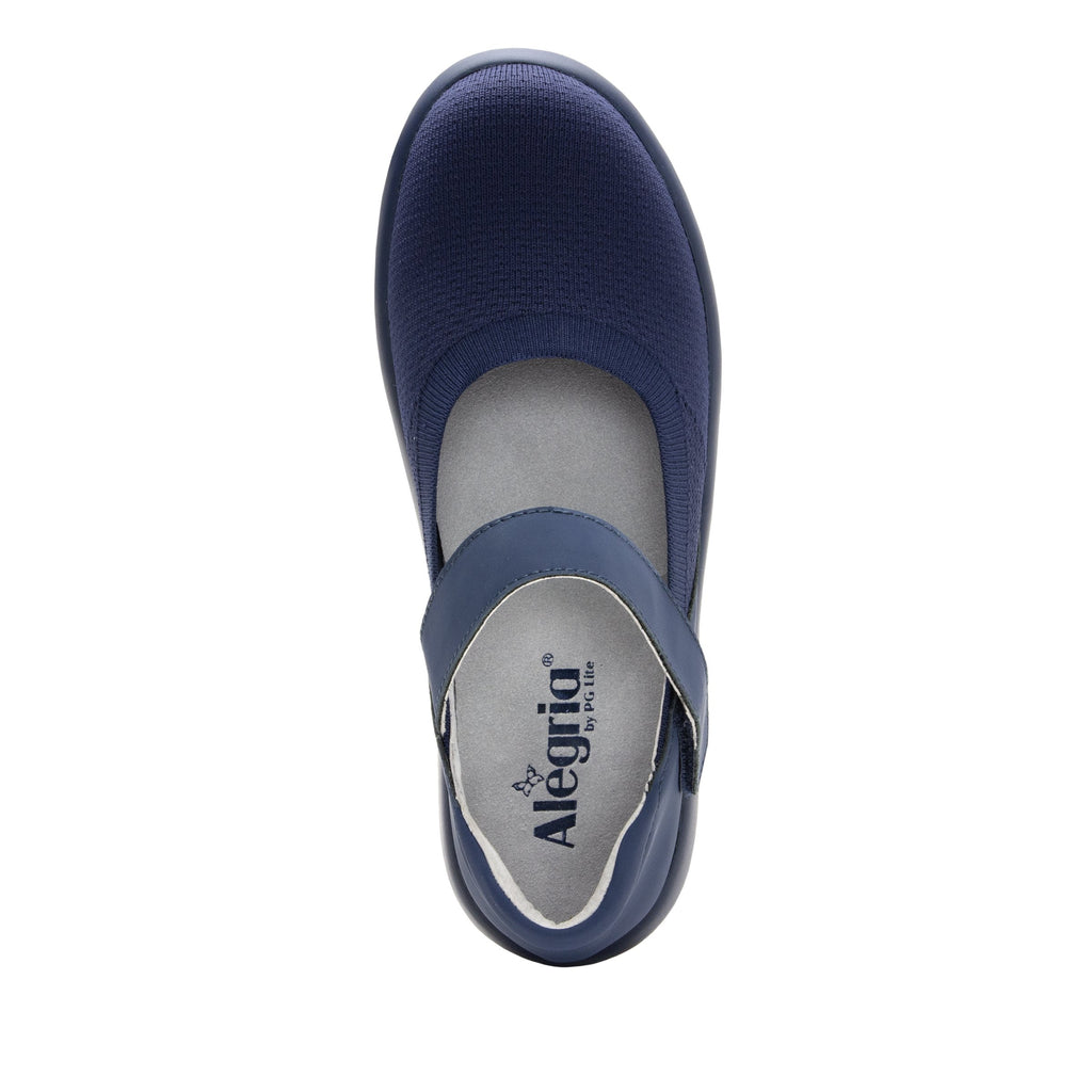 Olivia Navy sleek rocker mary jane style shoe with non-flexing rocker outsole - OLI-103_S4