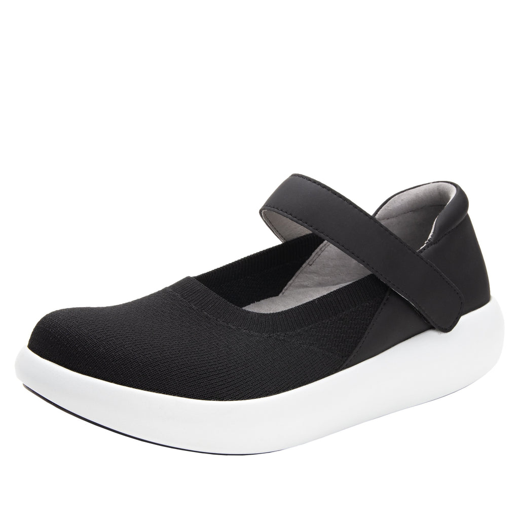 Olivia Black Top sleek rocker mary jane style shoe with non-flexing rocker outsole - OLI-111_S1
