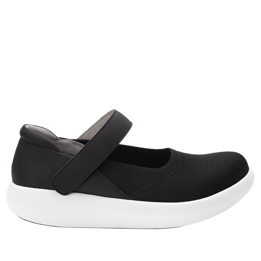 Olivia Black Top sleek rocker mary jane style shoe with non-flexing rocker outsole - OLI-111_S2