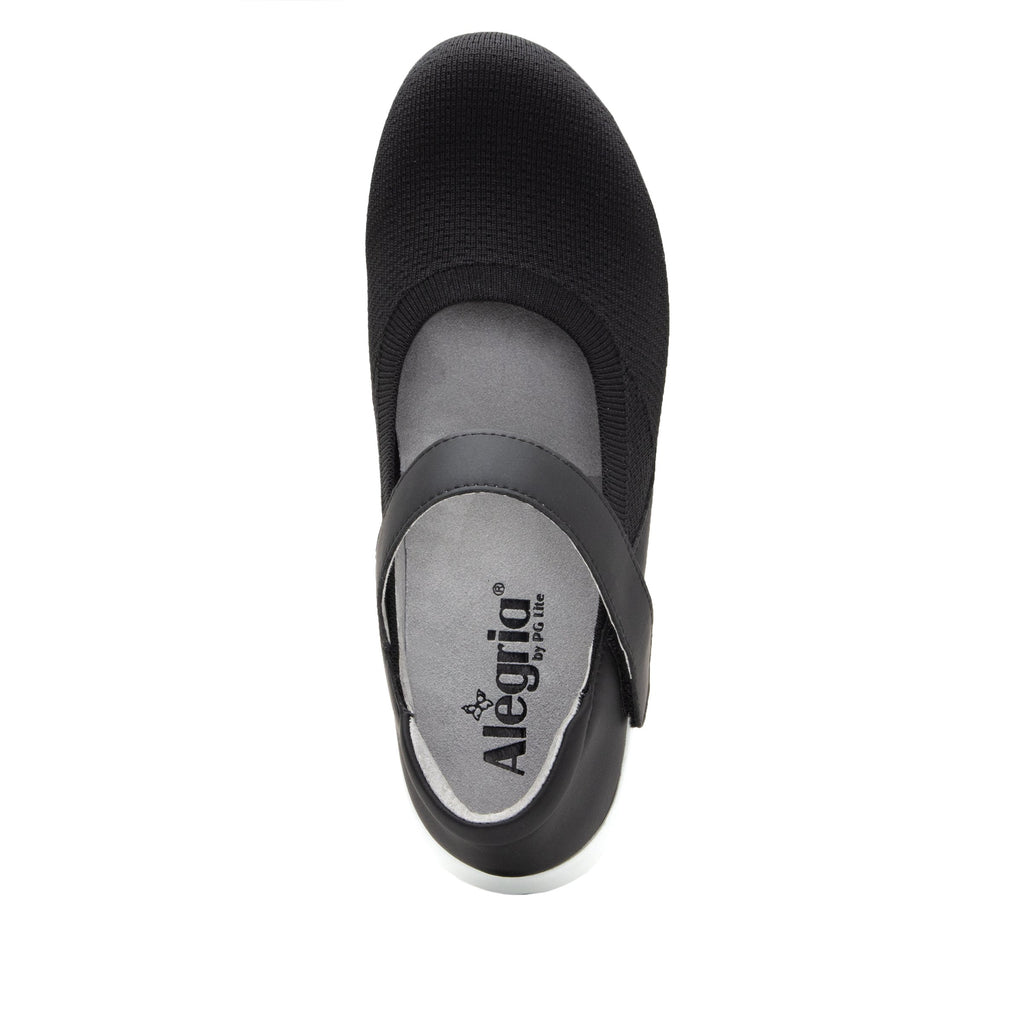 Olivia Black Top sleek rocker mary jane style shoe with non-flexing rocker outsole - OLI-111_S4