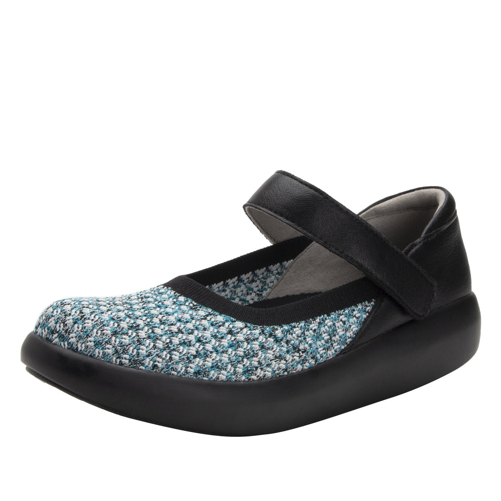 Olivia Black Multi sleek rocker mary jane style shoe with non-flexing rocker outsole - OLI-7730_S1