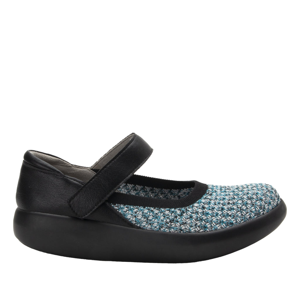 Olivia Black Multi sleek rocker mary jane style shoe with non-flexing rocker outsole - OLI-7730_S2