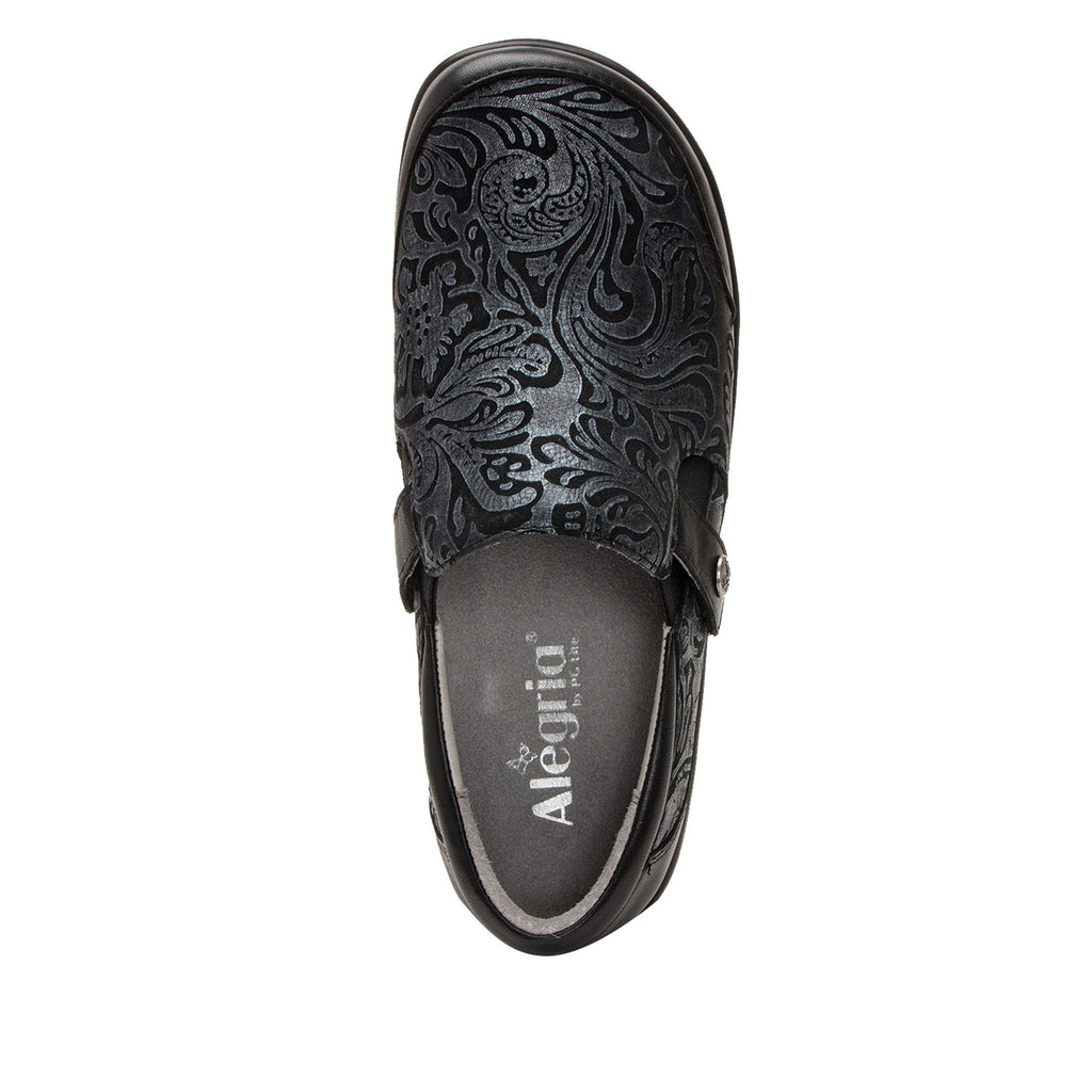 Paityn Pewter Swish slip on style shoe with contrast leather detailing and career casual outsole - PAI-185_S4