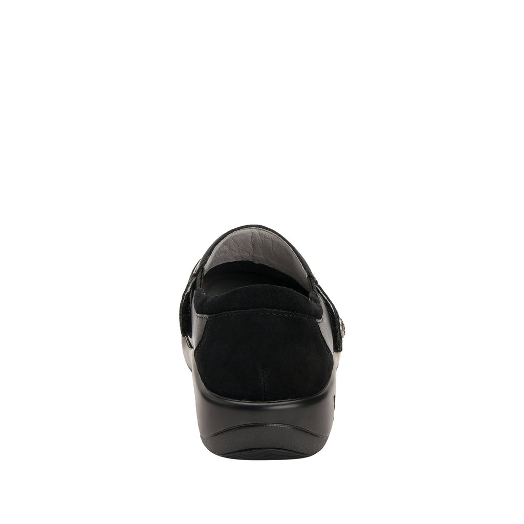 Paityn Black Swish slip on style shoe with contrast leather detailing and career casual outsole - PAI-601_S3