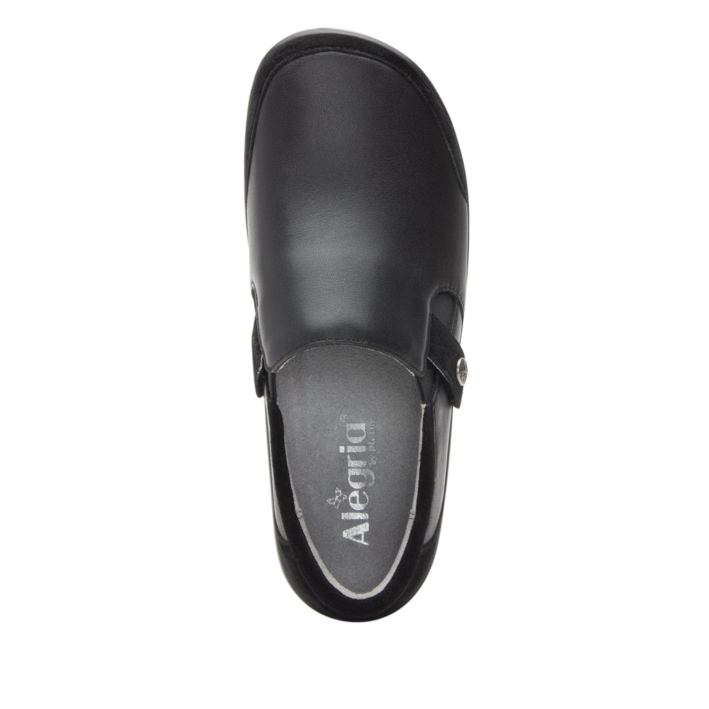 Paityn Black Swish slip on style shoe with contrast leather detailing and career casual outsole - PAI-601_S4