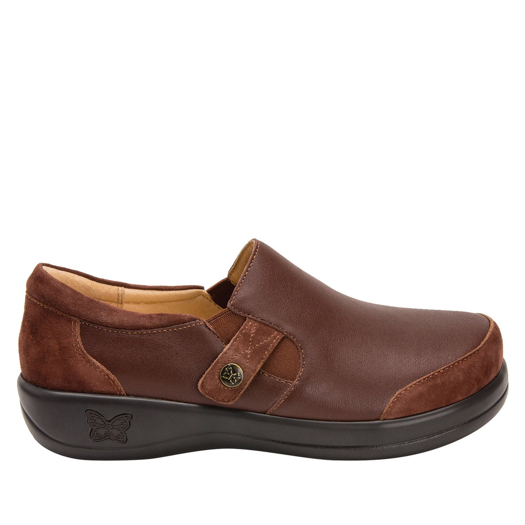 Paityn Cocoa slip on style shoe with contrast leather detailing and career casual outsole - PAI-612_S2 (2301136404534)