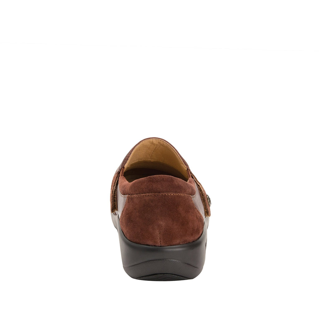Paityn Cocoa slip on style shoe with contrast leather detailing and career casual outsole - PAI-612_S3 (2301136404534)