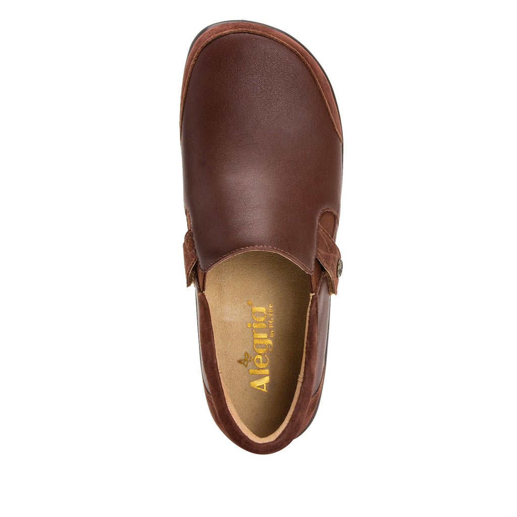 Paityn Cocoa slip on style shoe with contrast leather detailing and career casual outsole - PAI-612_S4 (2301136404534)