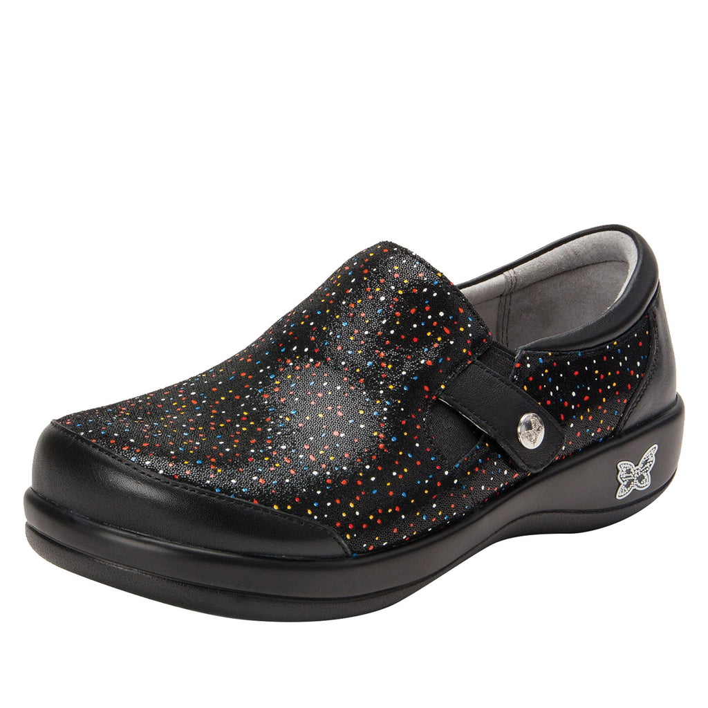 Paityn Sprinkles slip on style shoe with contrast leather detailing and career casual outsole - PAI-763_S1