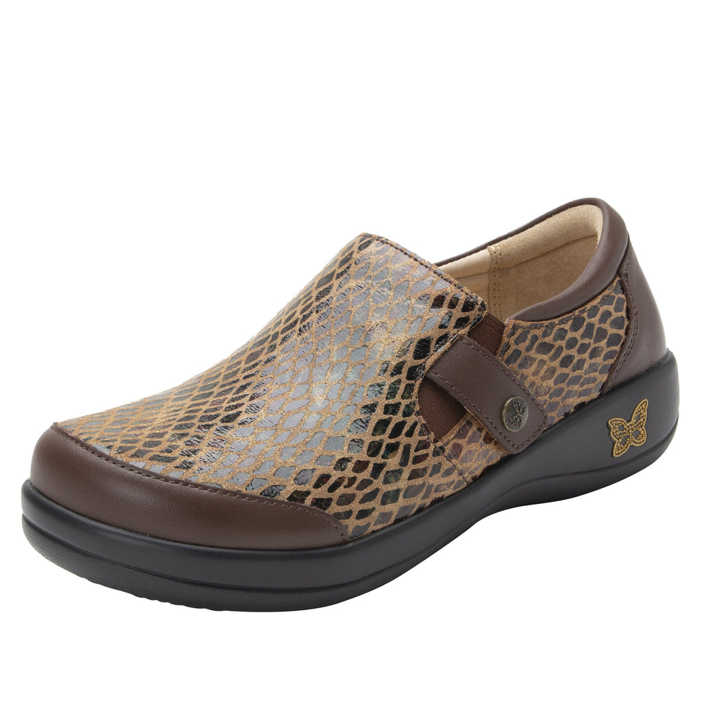 Paityn Golden Hour slip on style shoe with contrast leather detailing and career casual outsole - PAI-7851_S1
