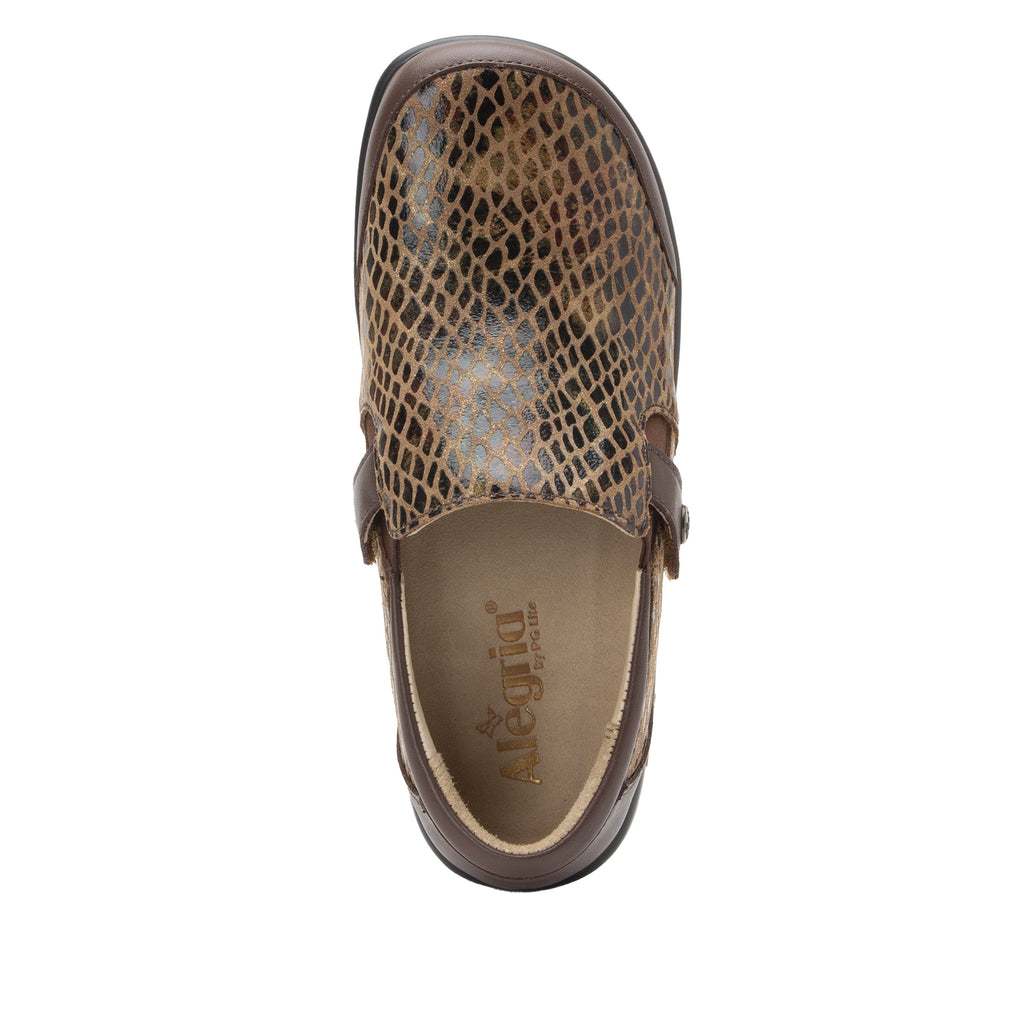 Paityn Golden Hour slip on style shoe with contrast leather detailing and career casual outsole - PAI-7851_S4