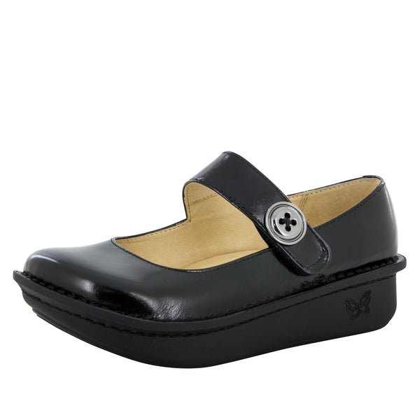 Paloma Black Waxy Mary Jane - Alegria Shoes