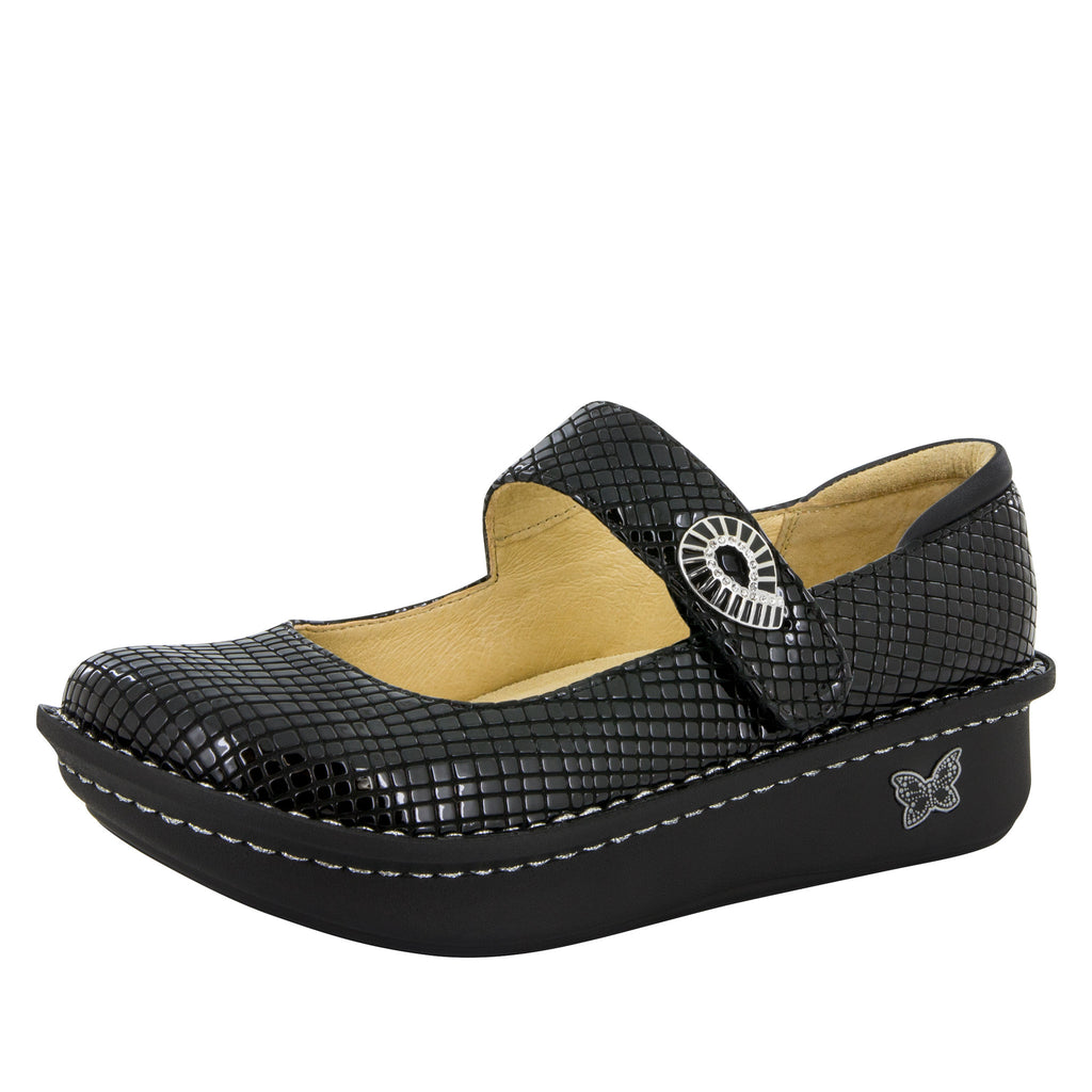 Paloma Jazzy Black Mary Jane - Alegria Shoes - 1