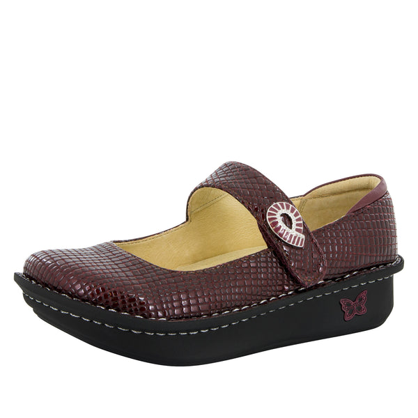 Paloma Jazzy Wine Mary Jane - Alegria Shoes - 1