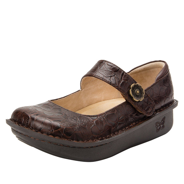 Paloma Flutter Choco Mary Janes with Classic Rocker Outsole - PAL-275_S1