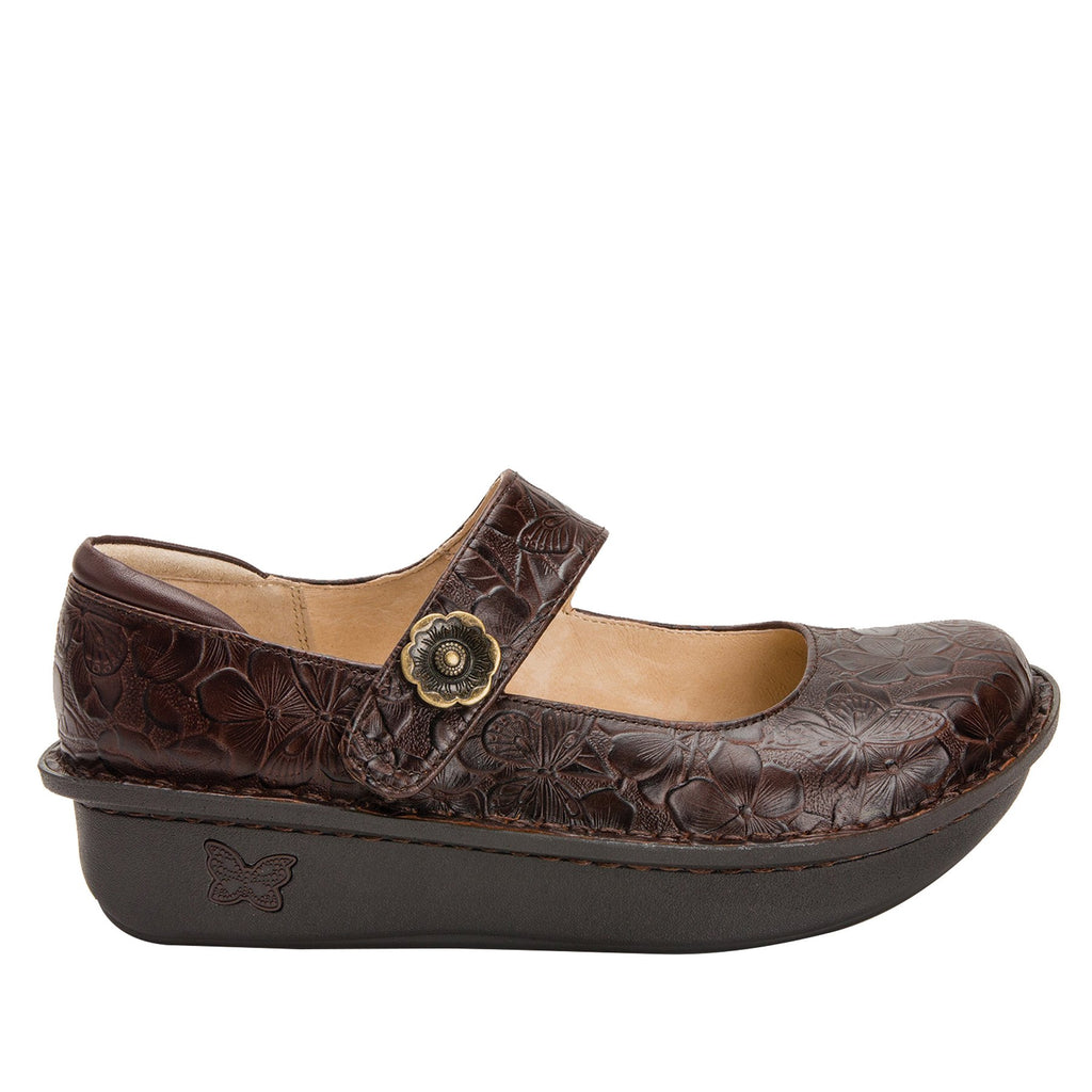Paloma Flutter Choco Mary Janes with Classic Rocker Outsole - PAL-275_S2