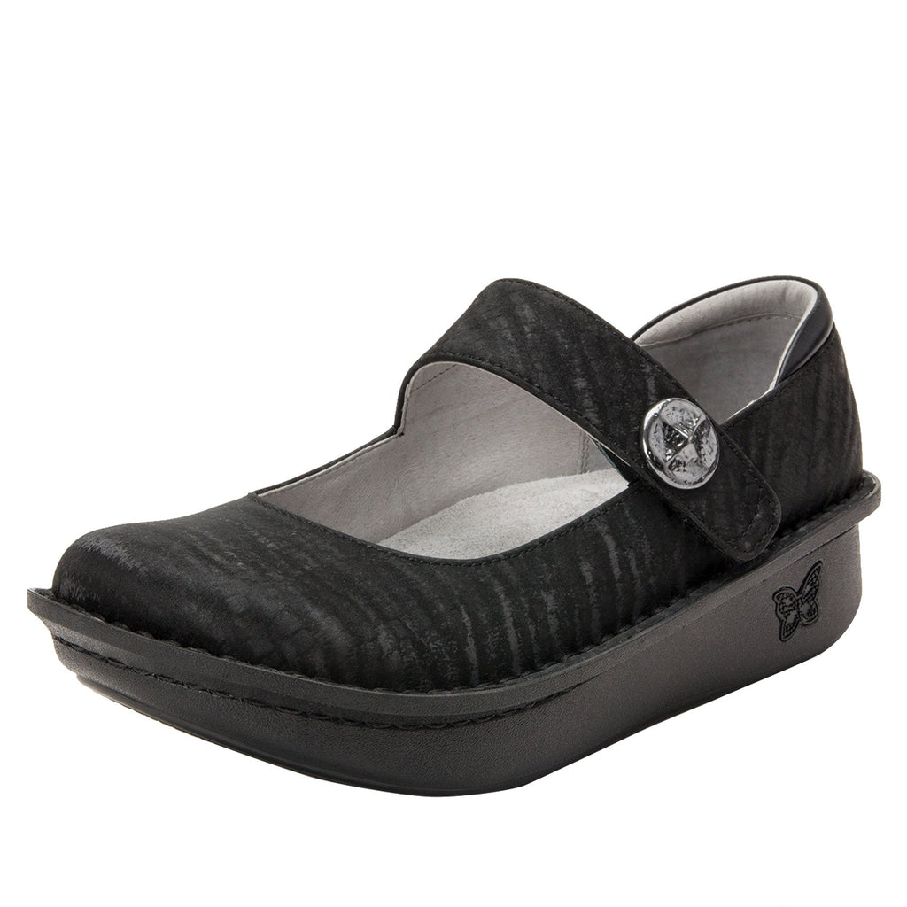 Paloma Caviar Mary Janes with Classic Rocker Outsole - PAL-277_S1