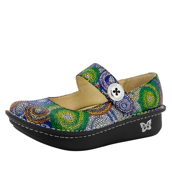 Paloma Bullseye Mary Jane - Alegria Shoes
