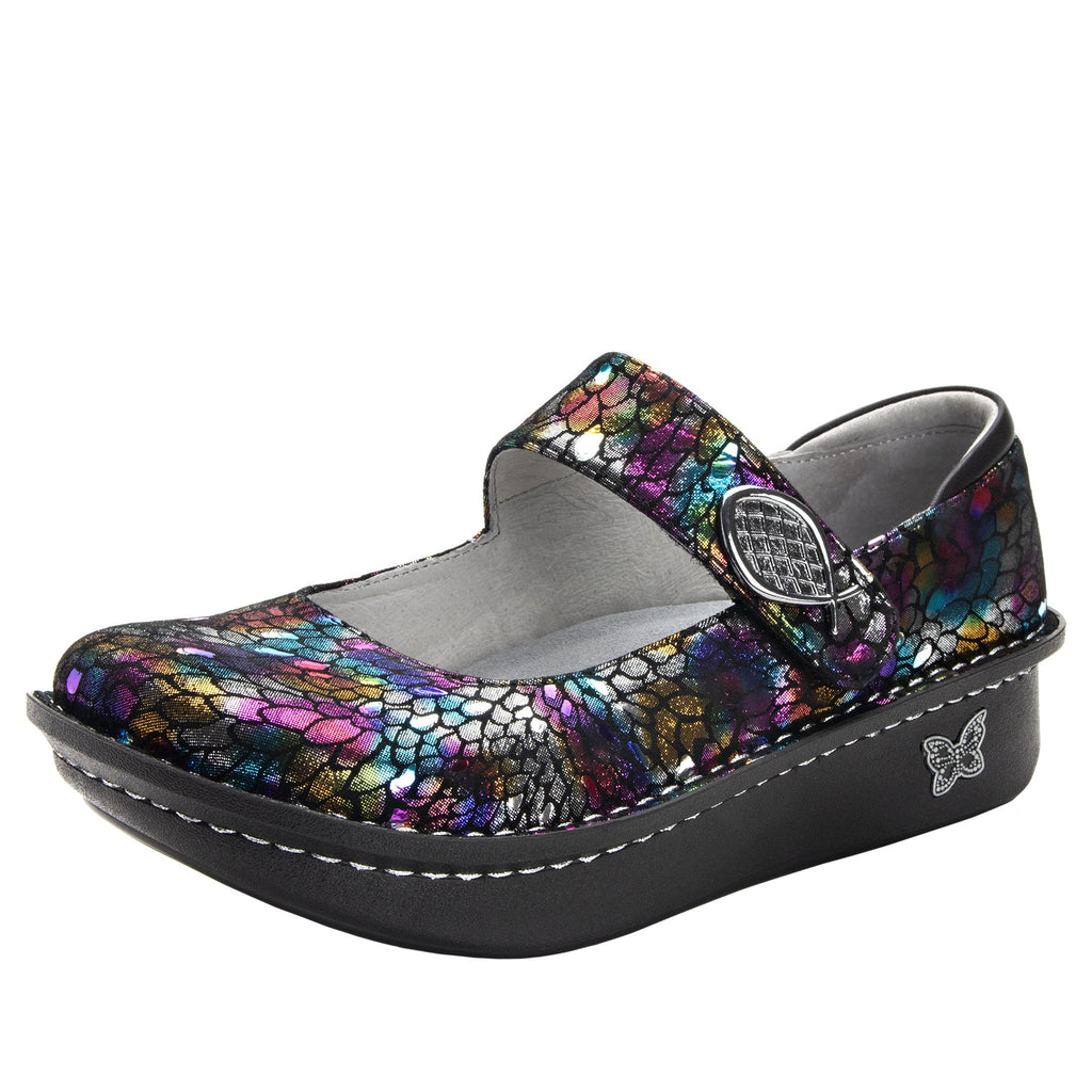 Paloma Minnow Rainbow Mary Janes with Classic Rocker Outsole - PAL-459_S1