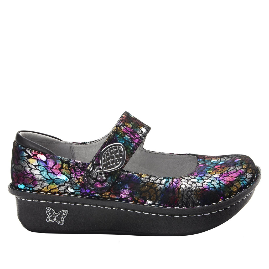 Paloma Minnow Rainbow Mary Janes with Classic Rocker Outsole - PAL-459_S2