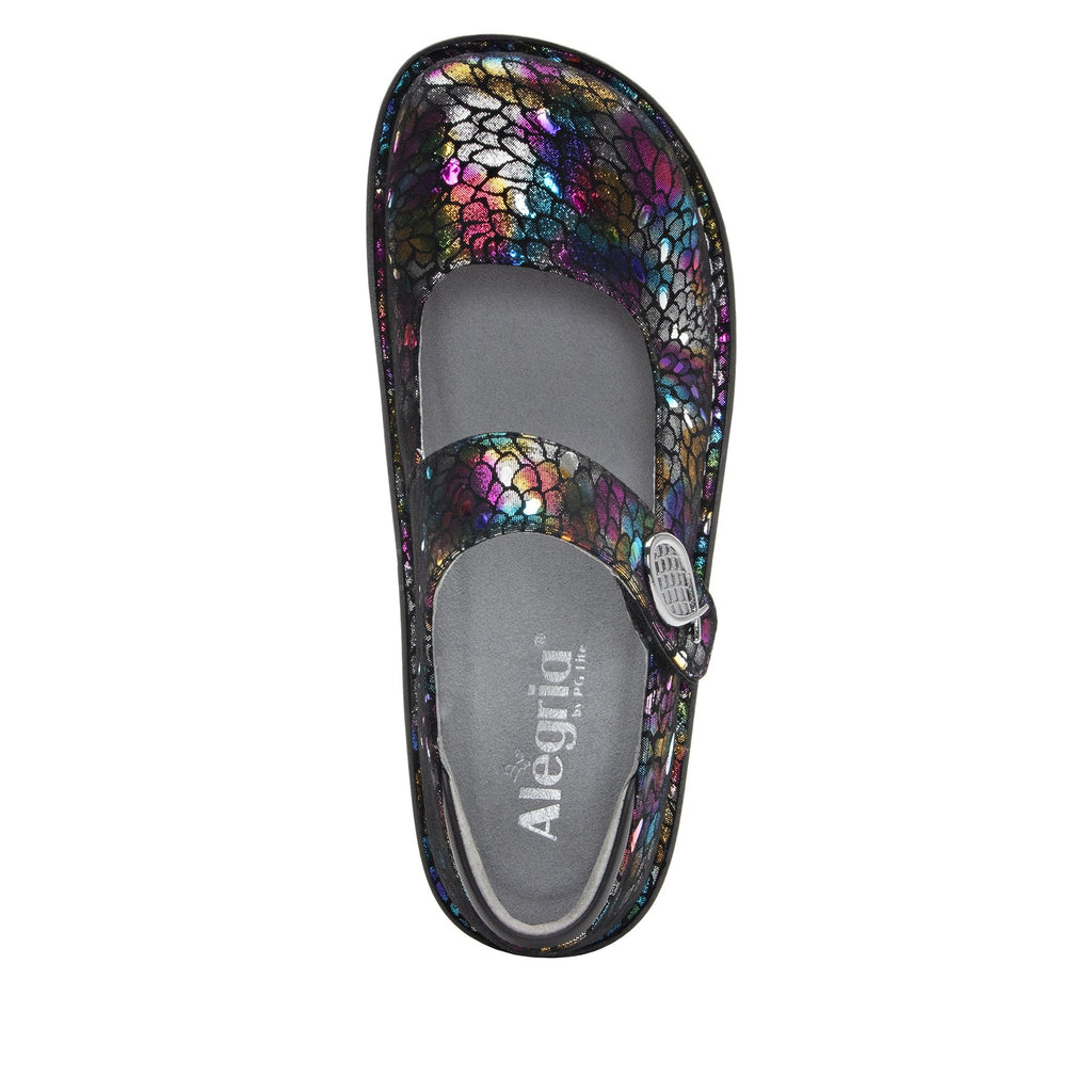 Paloma Minnow Rainbow Mary Janes with Classic Rocker Outsole - PAL-459_S4