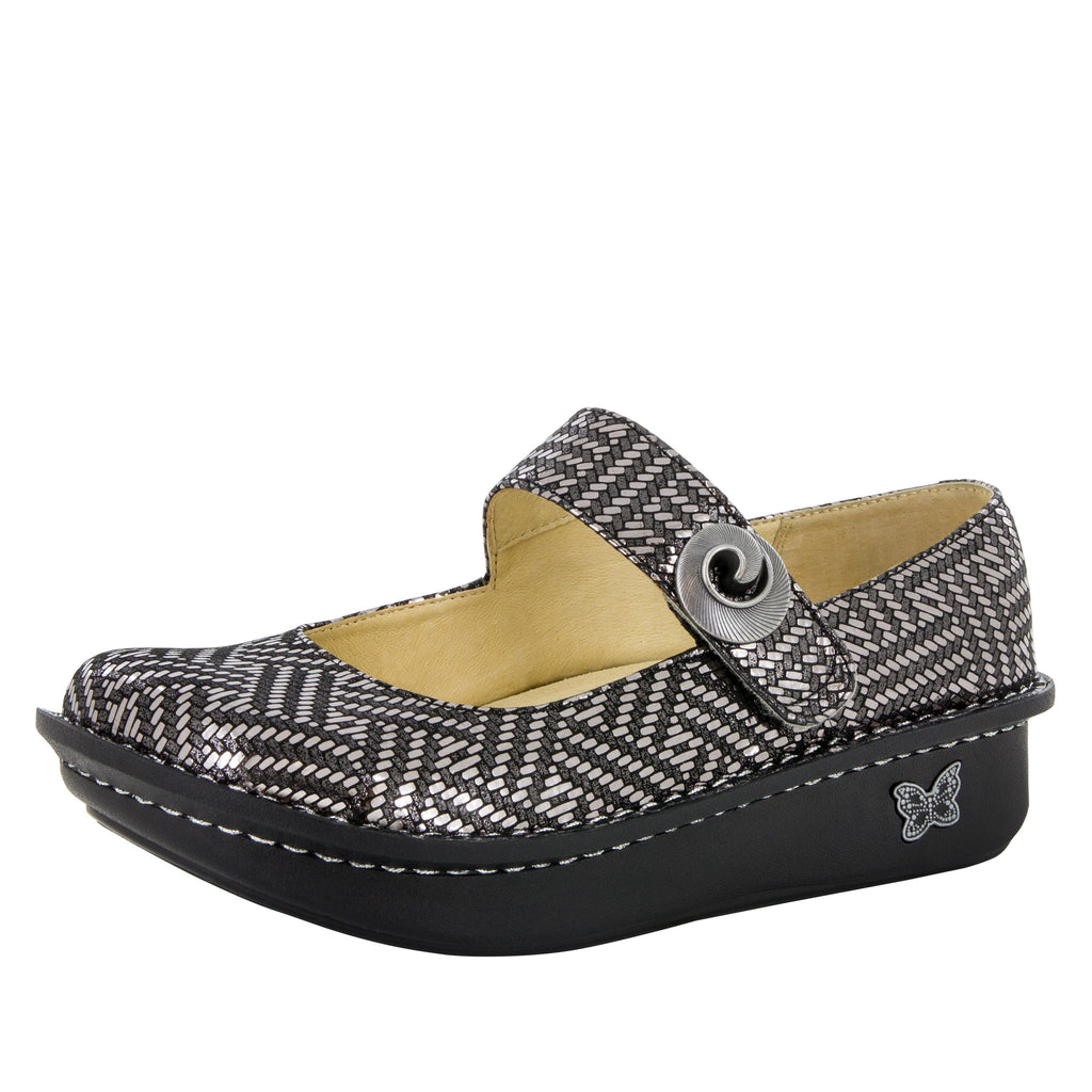 Paloma Pewter Dazzler Mary Jane - Alegria Shoes