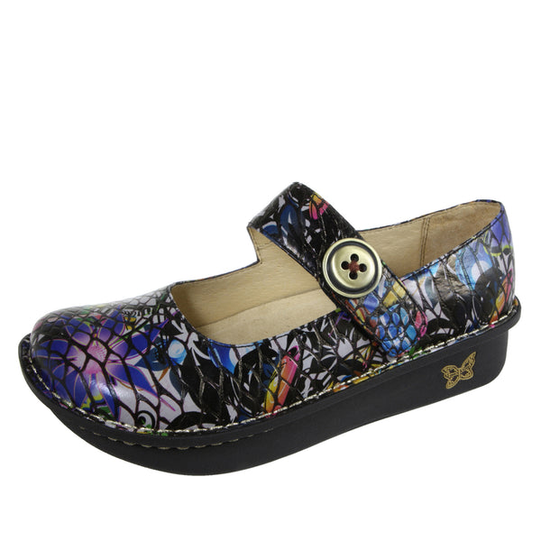 Paloma Purple Multi Snake Mary Jane - Alegria Shoes
